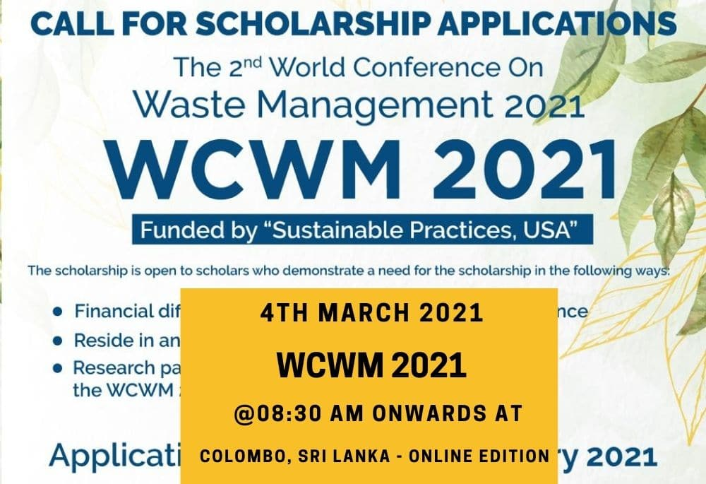World Conference on Waste Management 2021